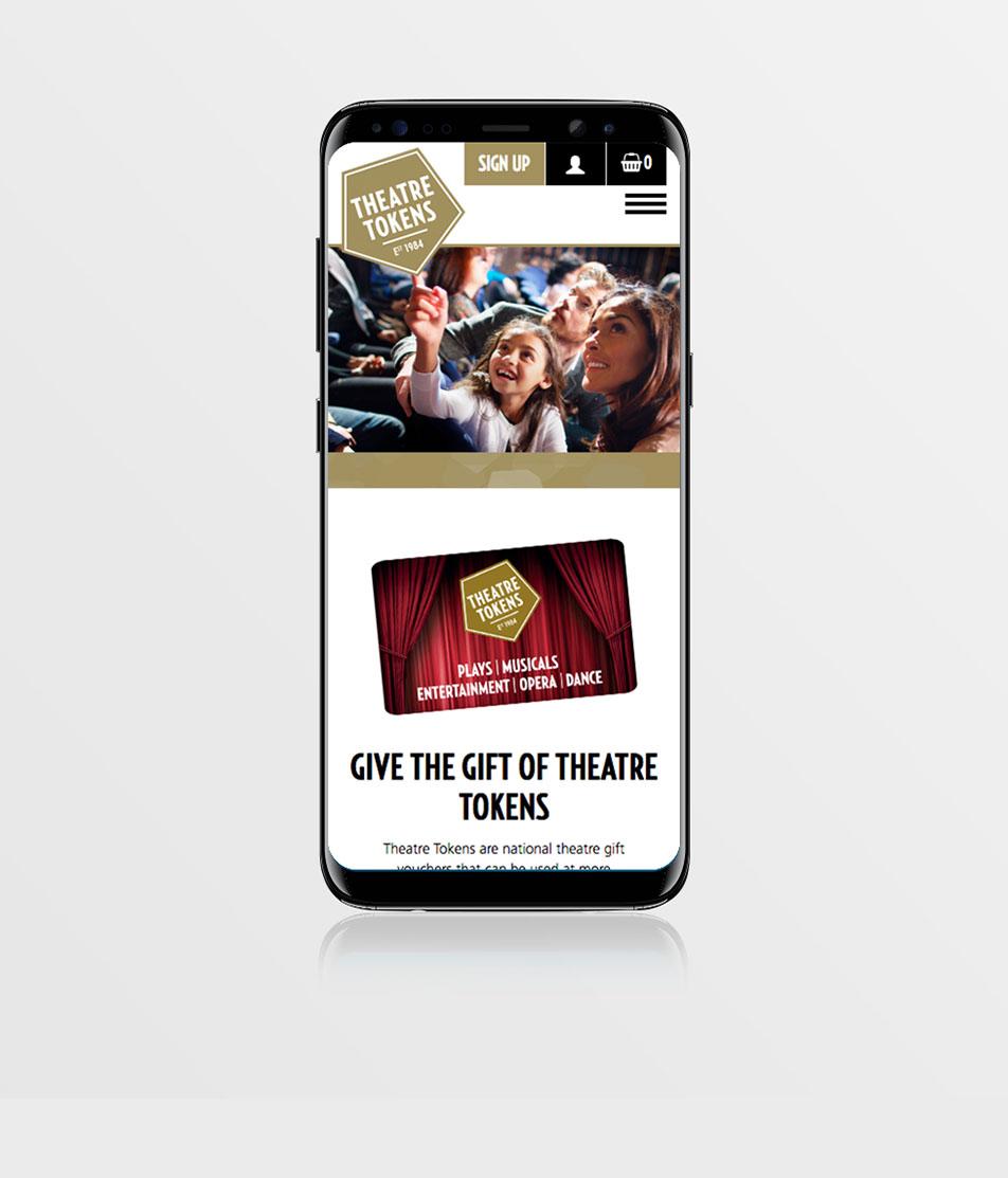Reuben Digital Society of London Theatre Tokens egift e-gift gift vouchers gift cards e-commerce API project case study