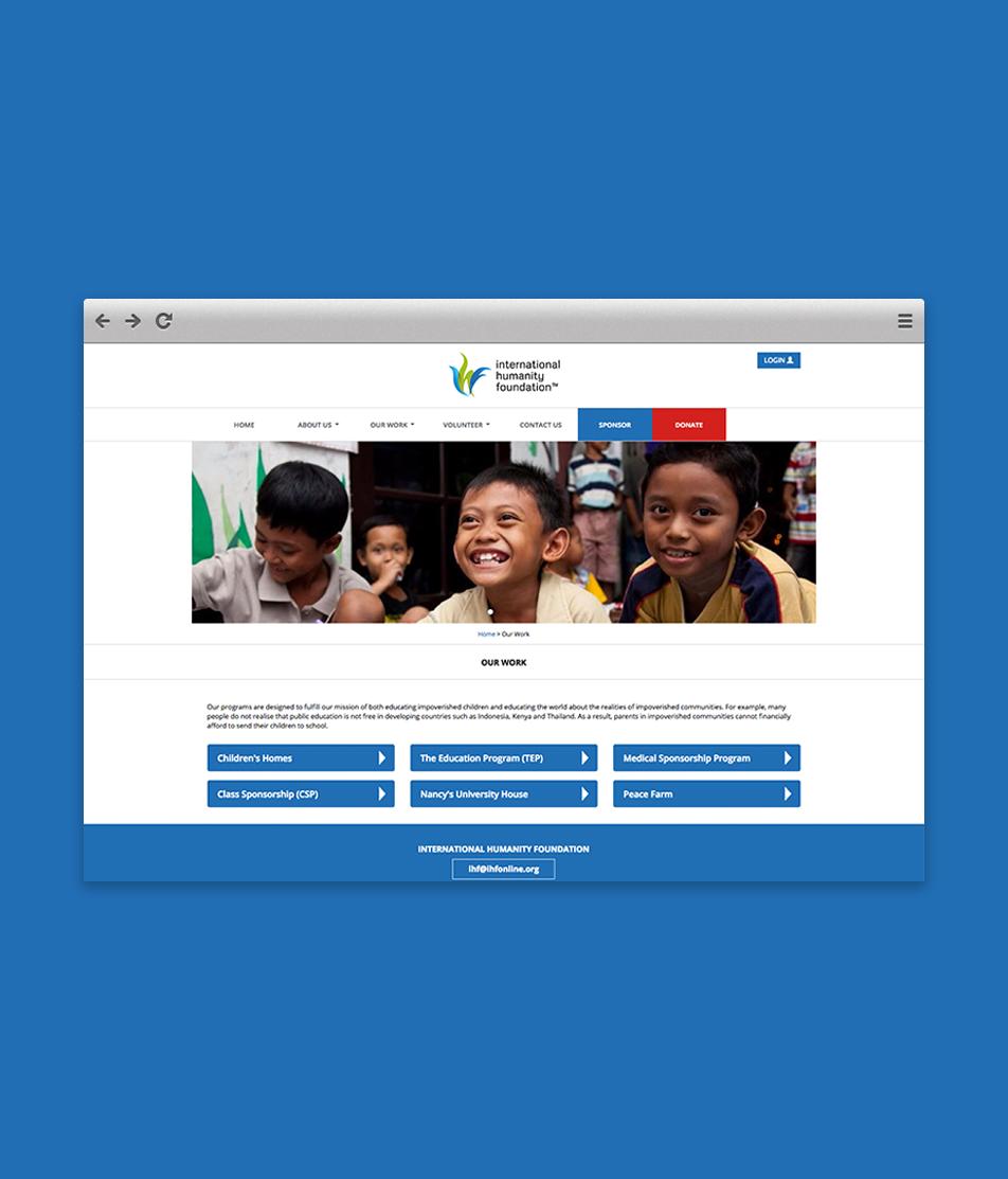 International Humanity Foundation - Mobile Responsive Website By Reuben Digital Ltd