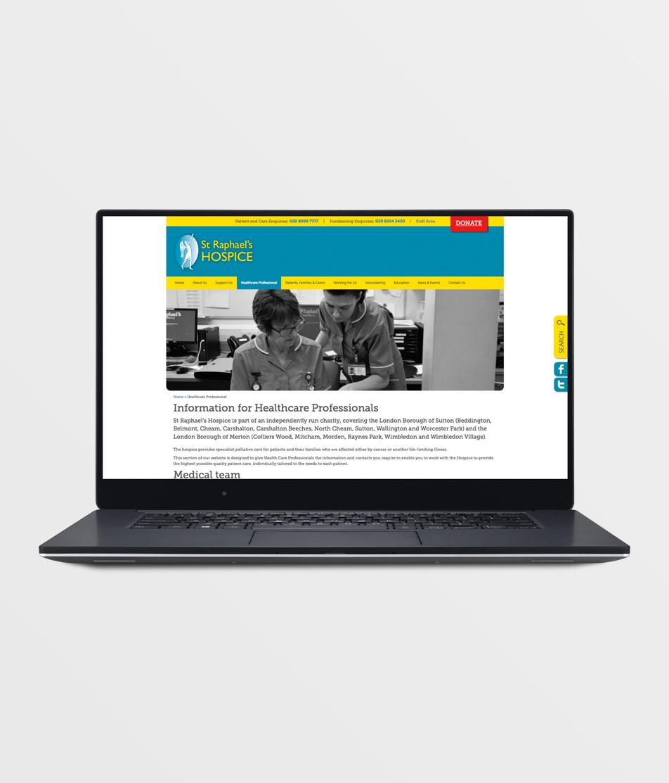 St Raphaels Hospice - Website By Reuben Digital Ltd