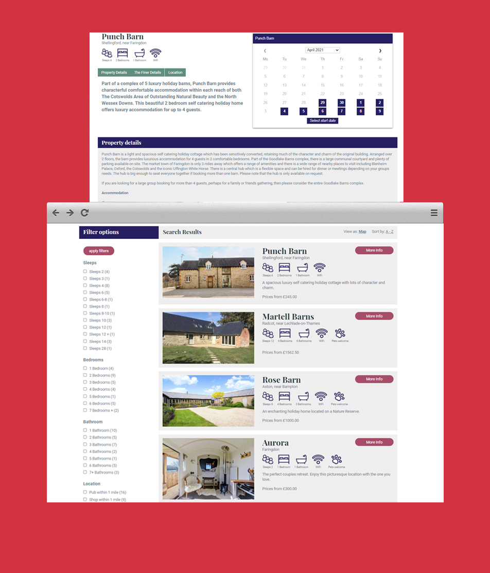 Stay Cotswold - Booking Systems API